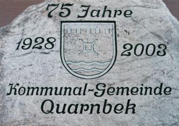 Bild Gedenkstein Gemeindejubiläum