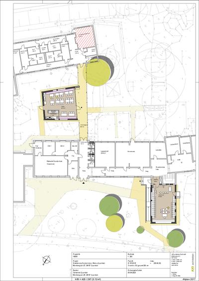 Plan der Schulerweiterung